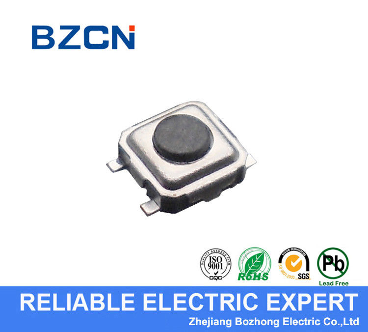 SMD Miniature Tactile Switch , SMT Tact Switch 3.3X3.3 Mm With Long Life Contact