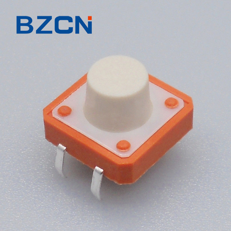 Industrial Equipment Miniature Tactile Switch Copper Terminal With Metal Cover