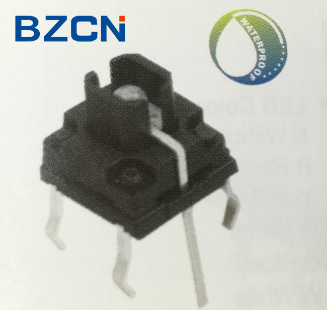IP67 Washable Illuminated Tactile Switch High Precision Mechanism Design